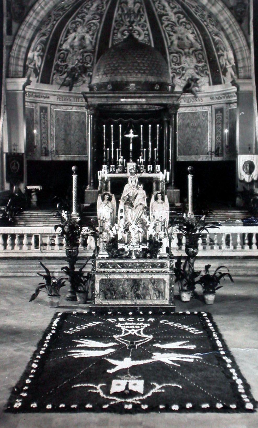 Foto storica dell'altare della Basilica di San Pancrazio a Roma