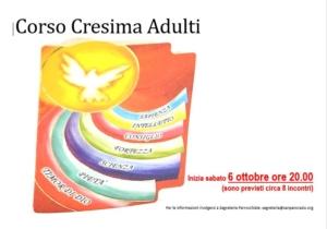 Corso Cresima Adulti 2018